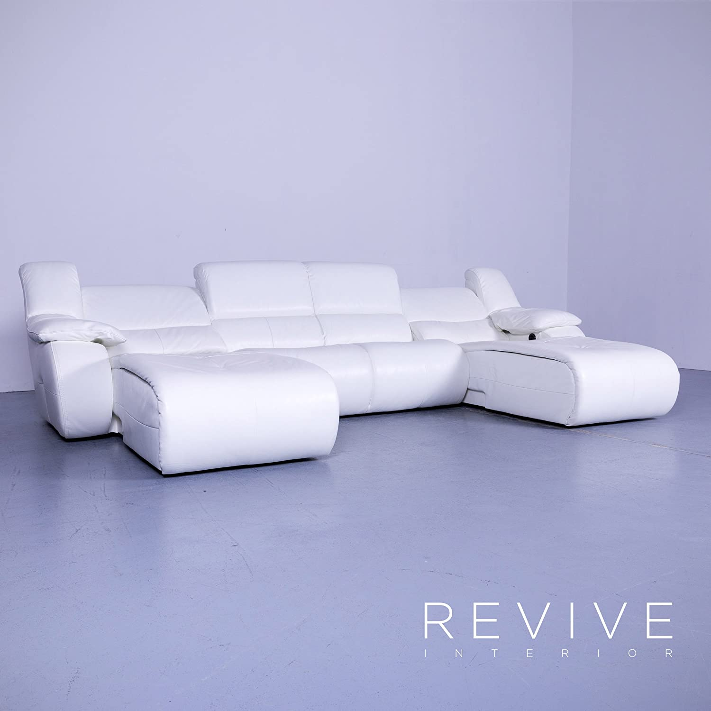 Chateau d`AX Bamboo Leder Ecksofa Weiß Couch Modern ...