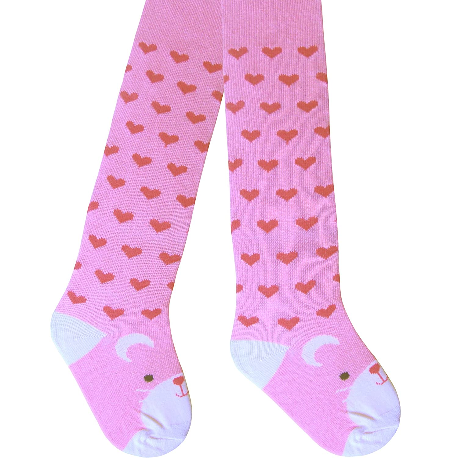 Baby Girls /& Toddlers Super Soft Comfort Cotton Rich Pink Patterned Tights