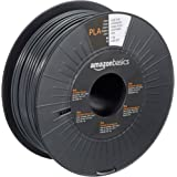 Amazon Basics PLA 3D Printer Filament, 2.85mm, Dark Gray, 1 kg Spool