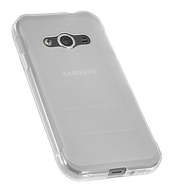 mumbi Schutzhülle Samsung Galaxy Xcover 3 Hülle transparent weiss