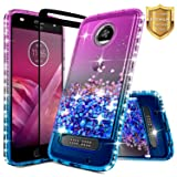 Moto Z2 Force Case w/[Full Coverage Tempered Glass