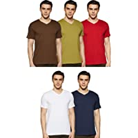 Amazon Brand - Symbol Men's Regular Fit Solid T-Shirt (Combo Pack of 5)