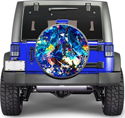 Amazoncom Anime Girl Sticker Full Color Spare Tire Cover Decal