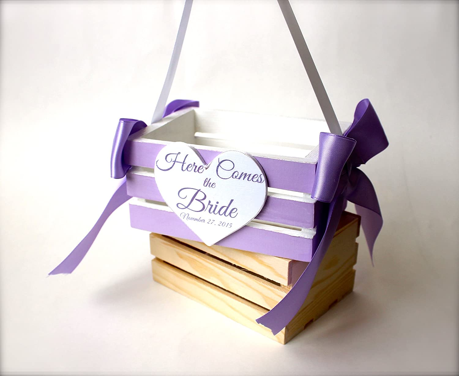 Custom Handmade Flower Girl Crate for Weddings