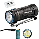 Olight S1 MINI Baton Cree XM-L2 LED 600 Lumens Ultra Compact LED Flashlight Smallest Side-switch Flashlight with Rechargeable 16340 Battery x 1 and SKYBEN Accessory(S1 MINI)