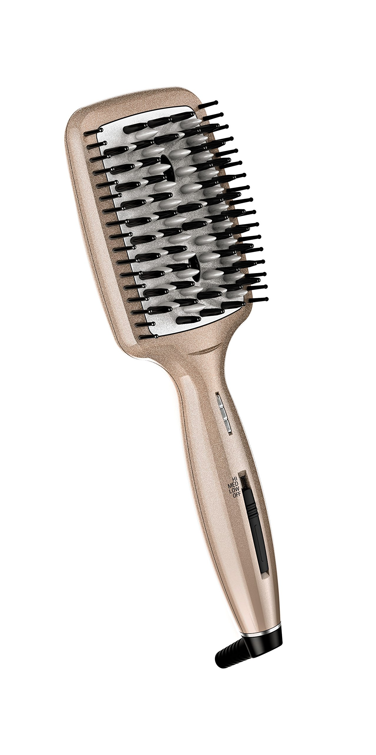 INFINITIPRO BY CONAIR Diamond-Infused Ceramic Smoothing Hot Brush/Straightening Brush; Rose Gold - 81SZAiZ9w8L - INFINITIPRO BY CONAIR Diamond-Infused Ceramic Smoothing Hot Brush/Straightening Brush; Rose Gold