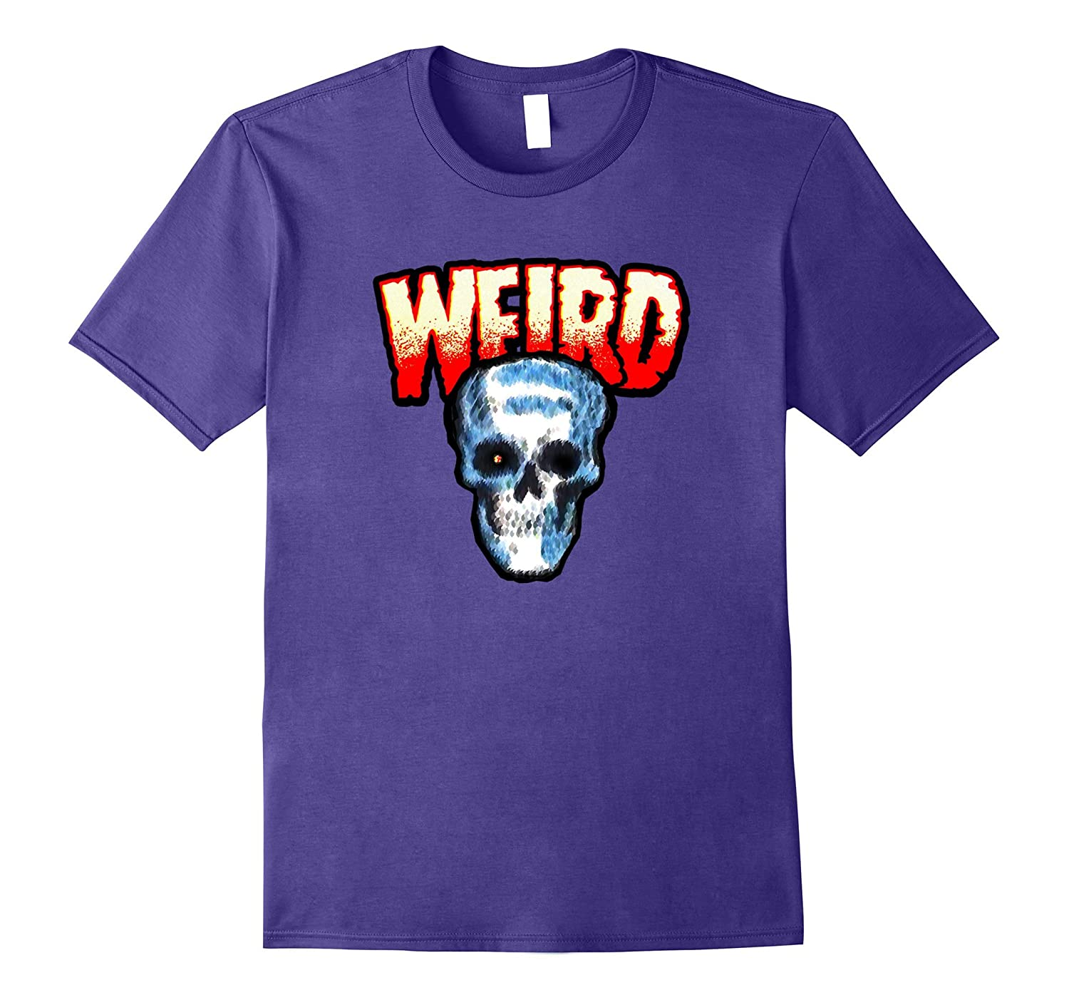 Scary Weird Skull Ghost Horror Comic T-Shirt-TJ
