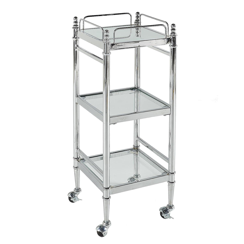 Linon BA001CHR01 Cart Chrome
