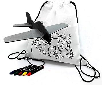 FUN FAN LINE – Set de Mochilas Infantiles para Colorear + Aviones ...