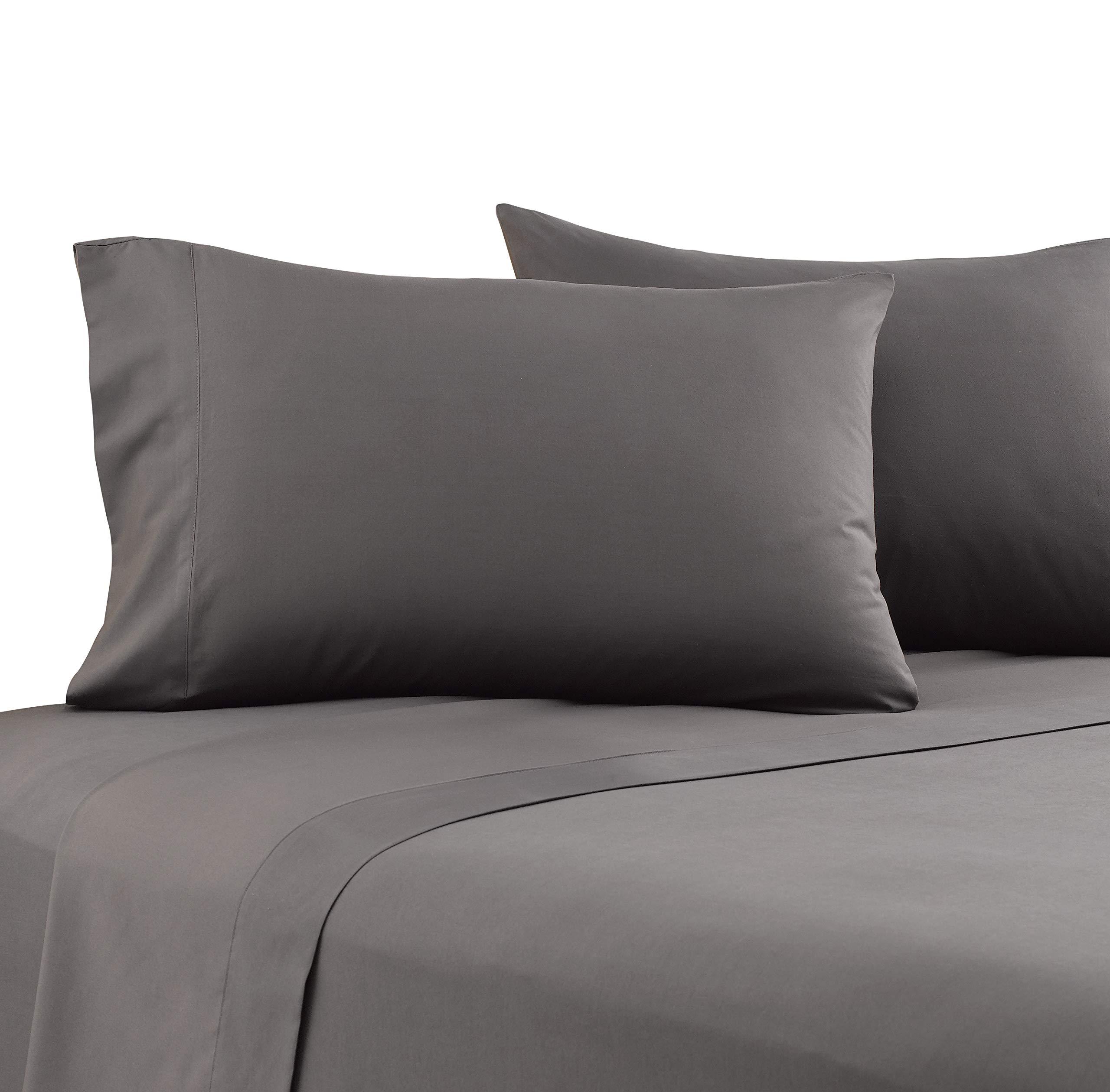 Karalai Bed Sheet Set 1800 Series King Size Sheets, Deep Pockets, Super Soft Wrinkle Free (4 Pc Dark Gray, King)