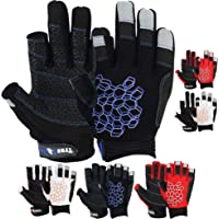 MRX BOXING & FITNESS Multicolored Sailing Gloves with Sticky Palm Grip for Men and Women, Short Finger or 2 Cut Finger…