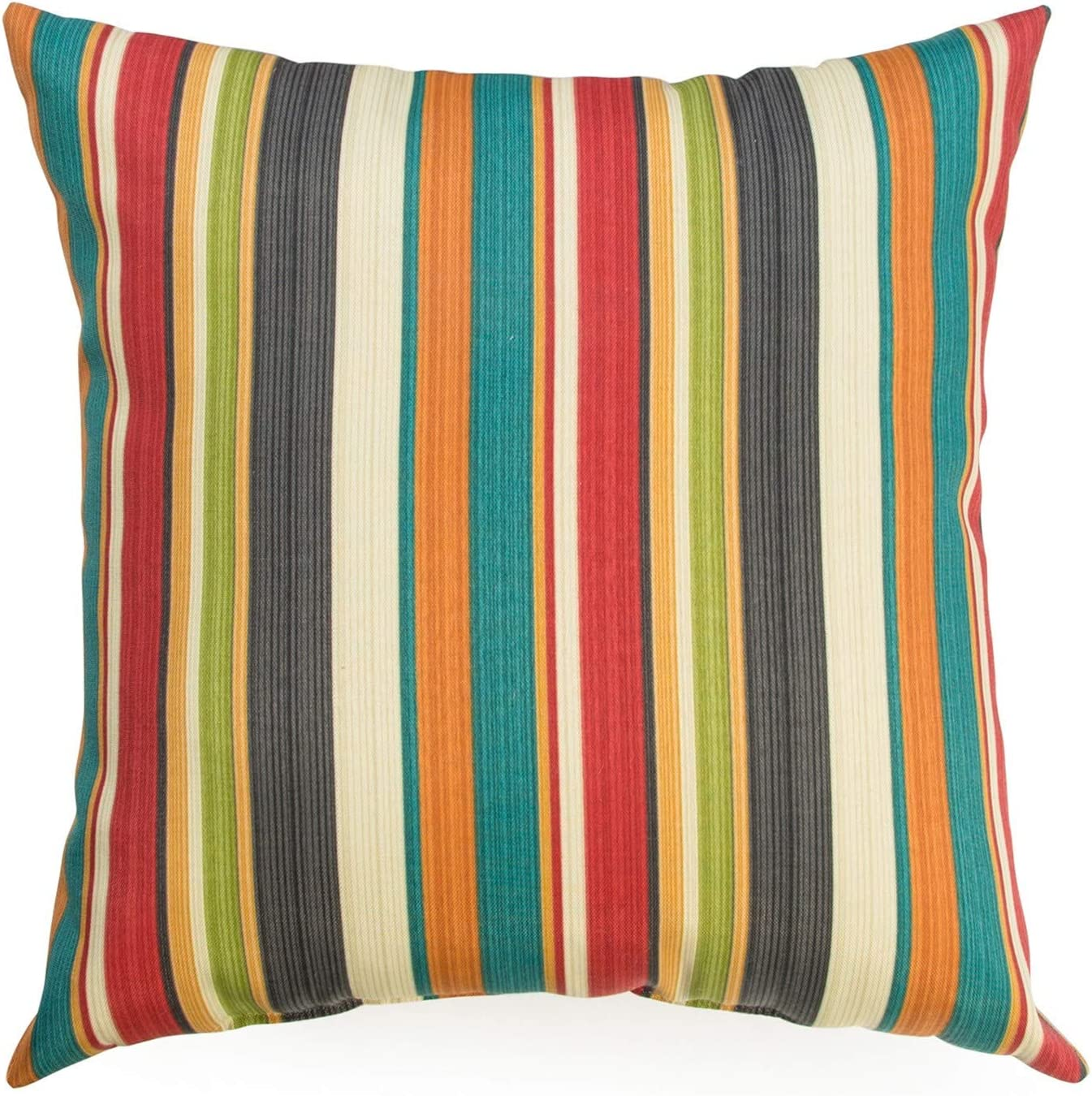 Greendale Home Fashions AZ4803S2-SUNSET Adobe Stripe Outdoor 17-inch Square Throw Pillow (Set of 2)