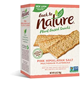 Back to Nature Crackers, Non-GMO Pink Himalayan Multigrain Flatbread, 5.5 Ounce (Pack of 6) (Packaging May Vary)