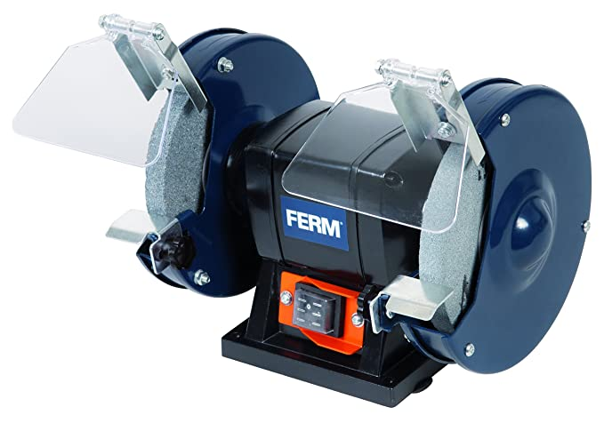 FERM BGM1019 Bench Grinder 150W - 150mm - Incl. P36 und P60 Grinding ...