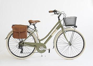 Via Veneto City Bicicletta 28 Pollici 605 Alluminio Lady Verde