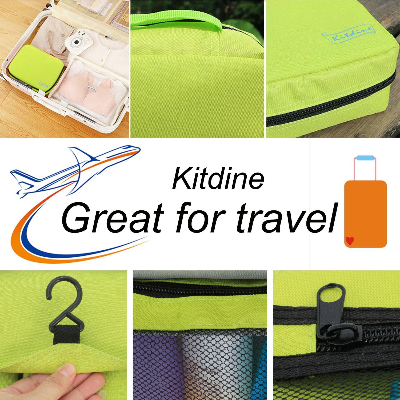 Borsa da bagno da viaggio - Kitdine Medio Per Uomini & Donne / Appendiabiti / Organizzatore da viaggio – Beauty case (Verde)