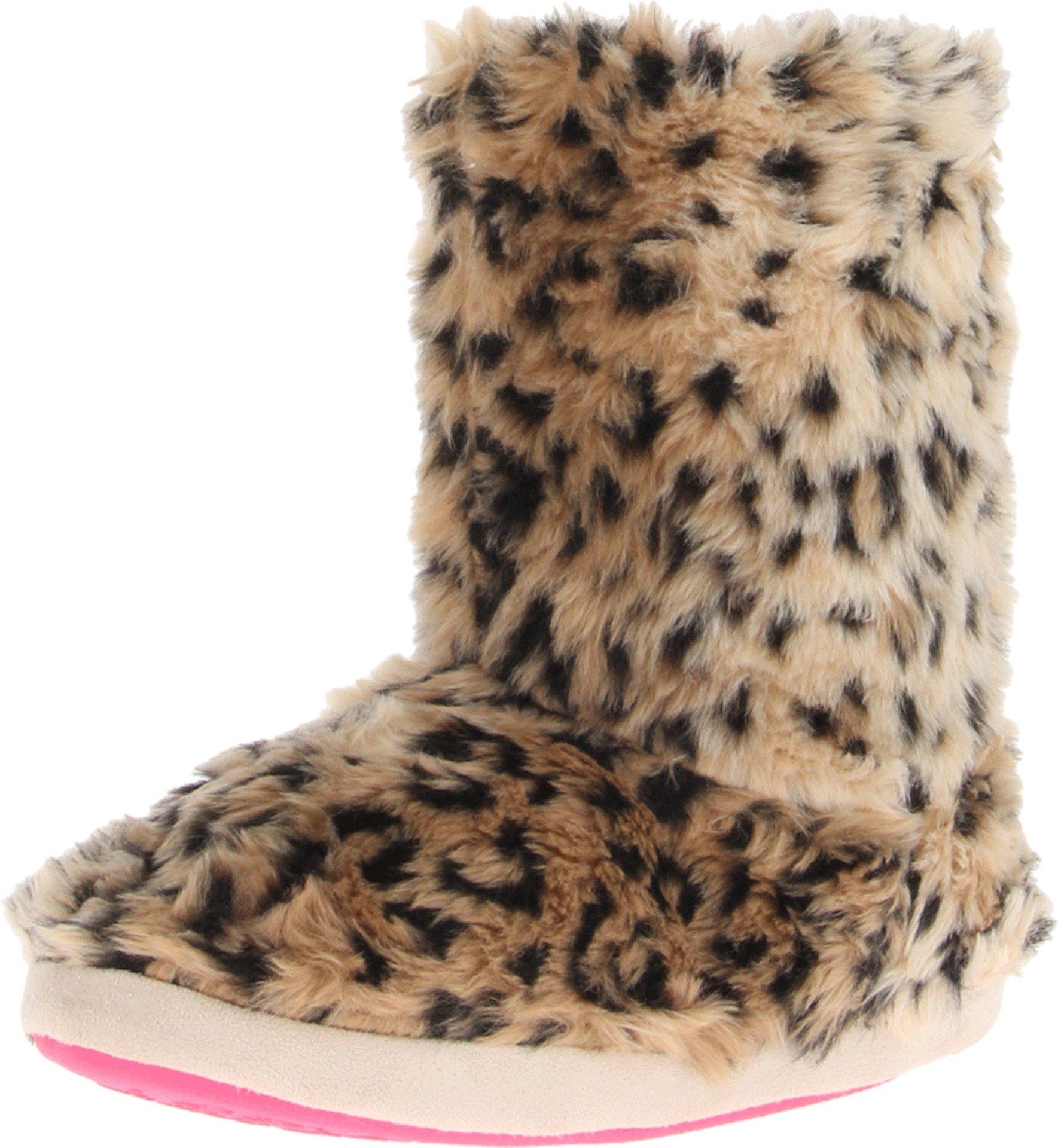 M&F Western Women's Furry Boot Slippers Brown Leopard Slipper MD (Women's 7-8) M