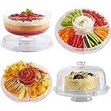 VonShef Présentoir à gateaux multifonction - pâtisserie/apéritifs/saladier - diamètre 30 cm