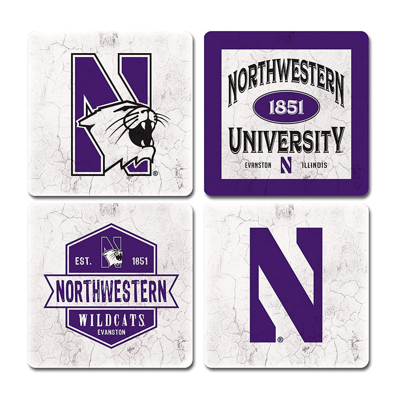 Legacy NCAA Unisex-Adult Thirsty Coaster 4-Pack