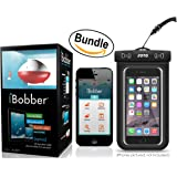 iBobber Wireless Bluetooth Smart Fish Finder for iOS and Android devices & JOTO Universal Waterproof CellPhone Case (Bundle)