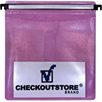CheckOutStore (100) CD Double-Sided Refill Plastic Hanging Sleeve (Pink)