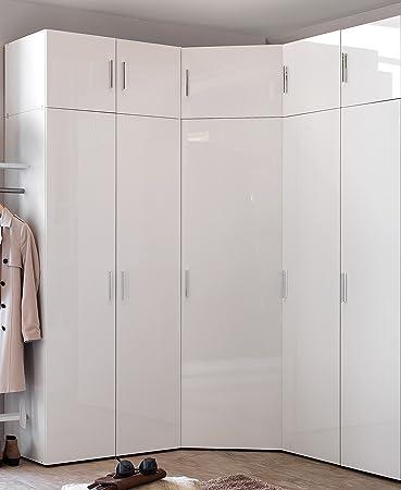 Wimex Malta Eck-Kleiderschrank mit Aufsatz Höhe 225 cm Hochglanz ...