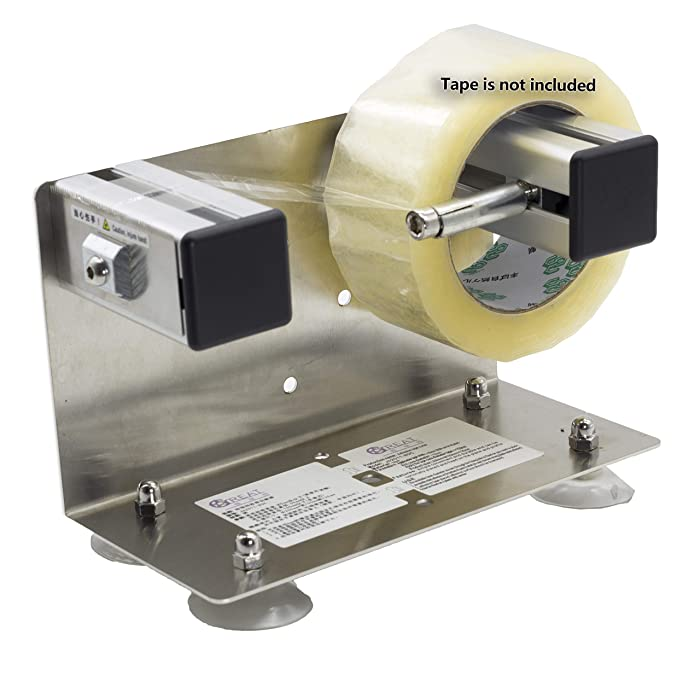 LDS Industry 2''/3'' Desktop Table Top/Wall Mounted Tape and Label Dispenser, Large Desktop Tape Dispenser, Stainless Steel Frame with Sucktion Cup Sucker TTD-01