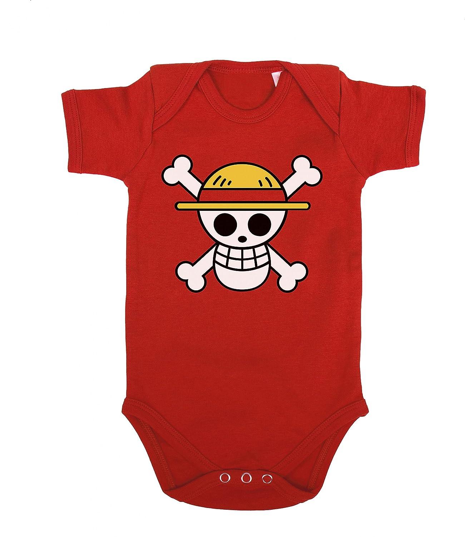 Ruffy Straw Hat Logo Baby Strampler Body Luffy Ruffy One Monkey Anime Piece Zoro Logo-Baby