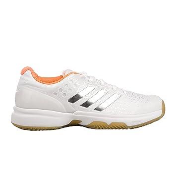 size 40 808e8 a1f94 Adidas Femmes Adizero Ubersonic 2 Clay Chaussures De Tennis Chaussure Terre  Battue Blanc - Argent 36