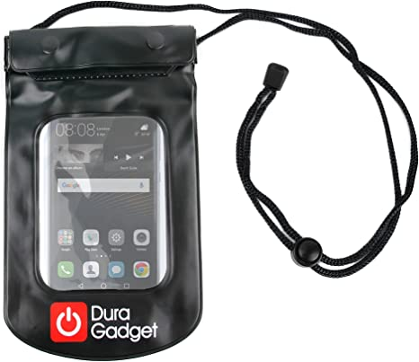 DURAGADGET Funda Impermeable Negra para Smartphone Huawei P9 / P9 Plus / P9 Lite: Amazon.es: Electrónica