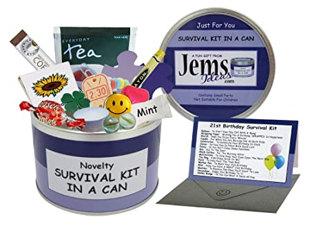 21st Birthday Survival Kit In A Can Novelty Fun Gift