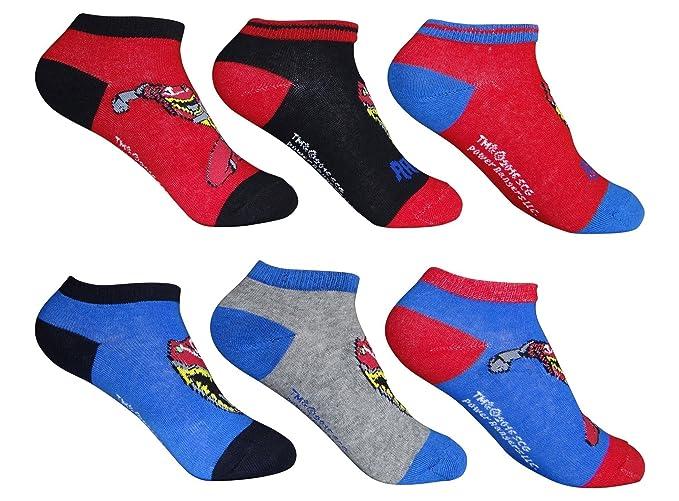 Jungen Sneaker Socken Kinder Füßlinge Spiderman 6 Paar