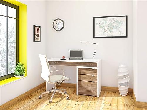 Nexera Liber-T Home Office Bundle / 400609 White/Walnut