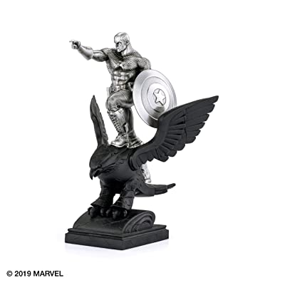 Royal Selangor Hand Finished Marvel Collection Pewter Limited Edition Captain America Resolute Statue Gift: Toys & Games [5Bkhe1103478]