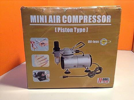 Amazon.com: Aerógrafo Depot TC-20 Mini aerógrafo compresor ...