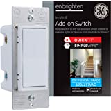 GE Enbrighten Add-On Switch with QuickFit and SimpleWire, GE Z-Wave/GE Zigbee Smart Lighting Controls, Works with Alexa…