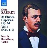 Emile Sauret: 24 Etudes-Caprices, Op. 64 1