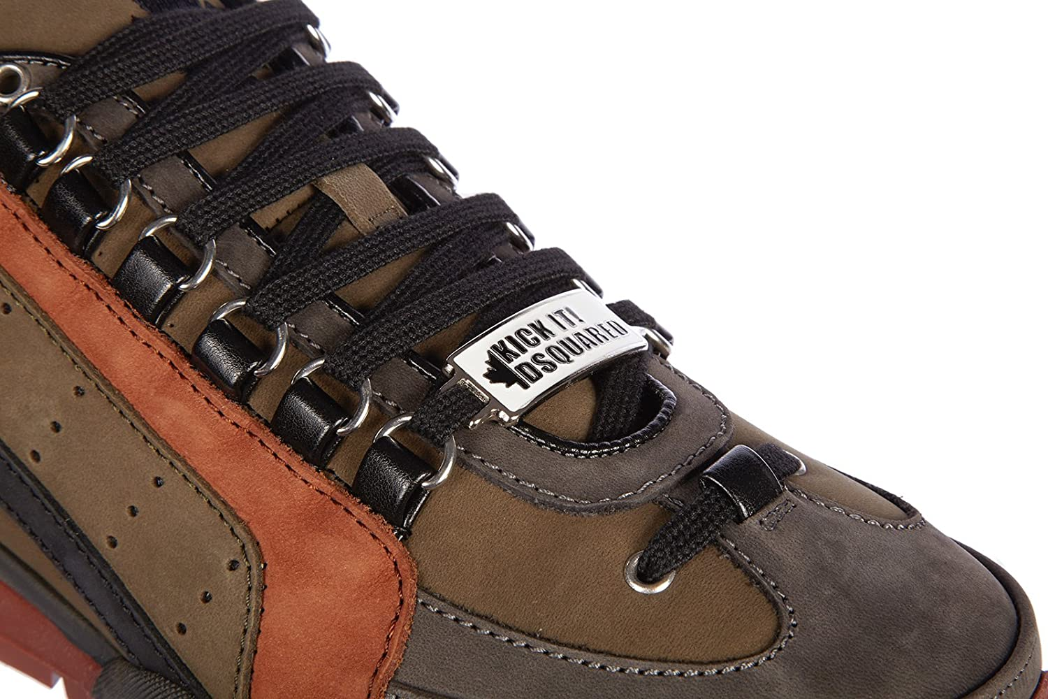 Amazon.com: DSQUARED2 Mens Shoes Leather Trainers Sneakers 551 Nabuk Brown US Size 12 W15SN404097M124: Shoes