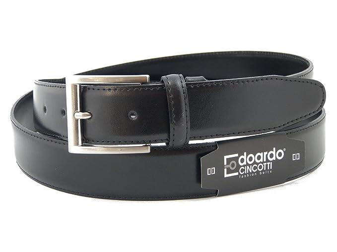 0ff554909c0a OSVALDO PERICOLI Edoardo Cincotti Cintura uomo in vera pelle vitello  semilucido colore nero