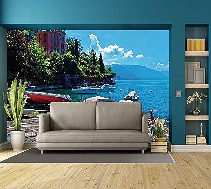 amazon com large wall mural sticker coastal decor italian harbor rh amazon com