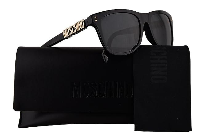 3af5a40793d Moschino MOS003 S Sunglasses Black w Grey Blue Lens 53mm 807IR MOS 003S MOS  003 S MOS003S  Amazon.co.uk  Clothing