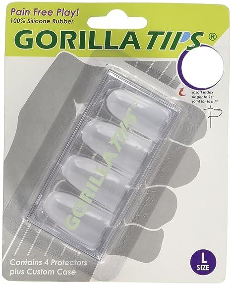 Consejos gorila del dedo protectores Claro gran tamaño
