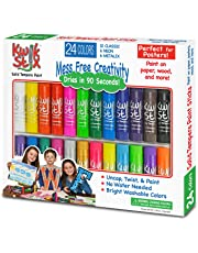 The Pencil Grip TPG-604 Kwik Stix Tempera Paint Pack of 24, Grade:Kindergarten to 12, Assorted  (Pack of 24)