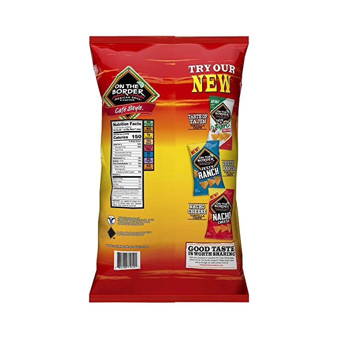 Amazon Com On The Border Cafe Style Tortilla Chips 12 Oz 3 Pk