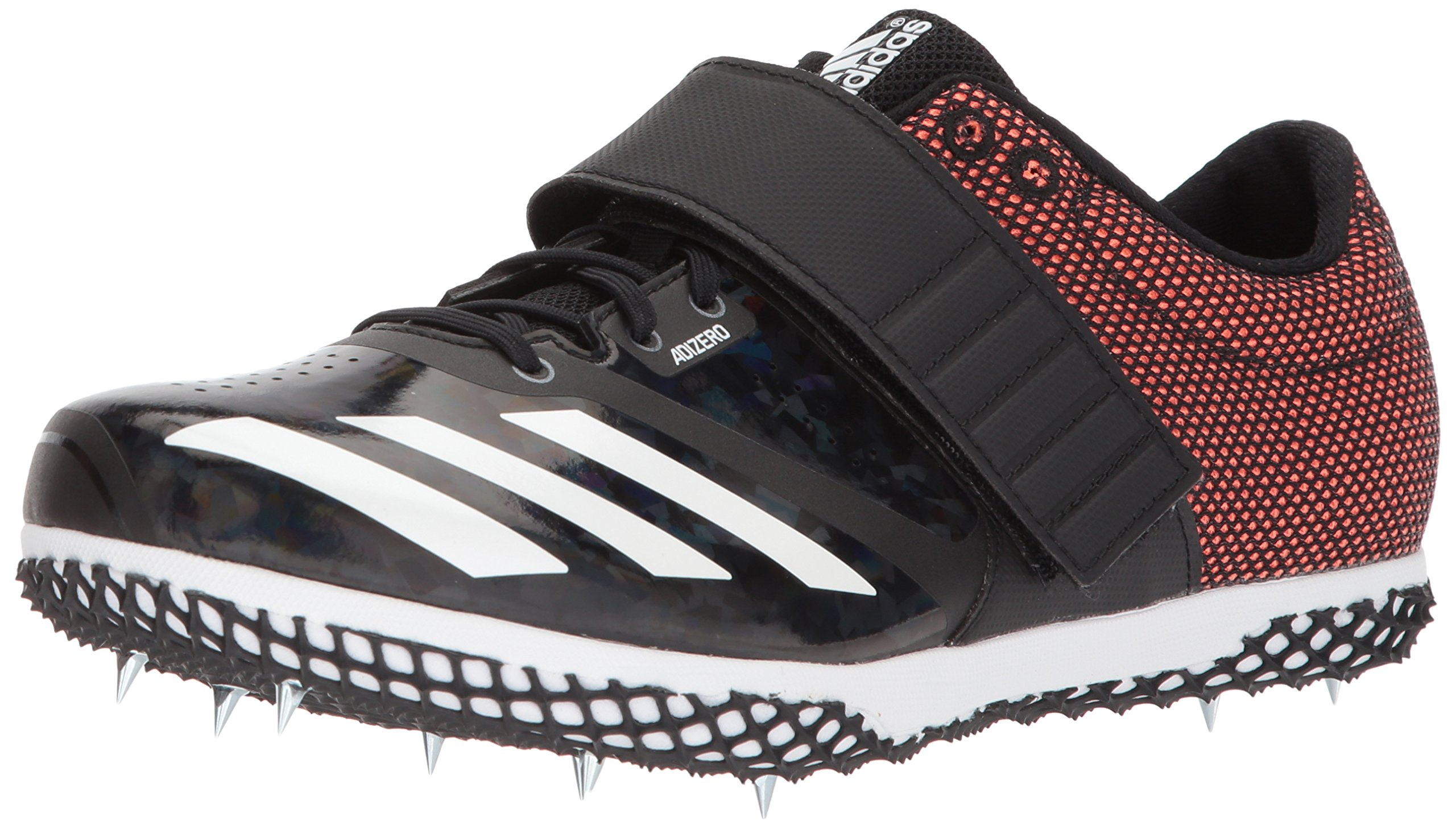 adidas Adizero HJ Running Shoe, Core Black, Solar Orange, FTWR White, 7.5 M US