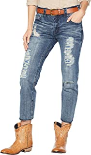 623bde75 Rock & Roll Cowgirl Boyfriend Distressed Denim Shorts (26) - 65-7377 ...