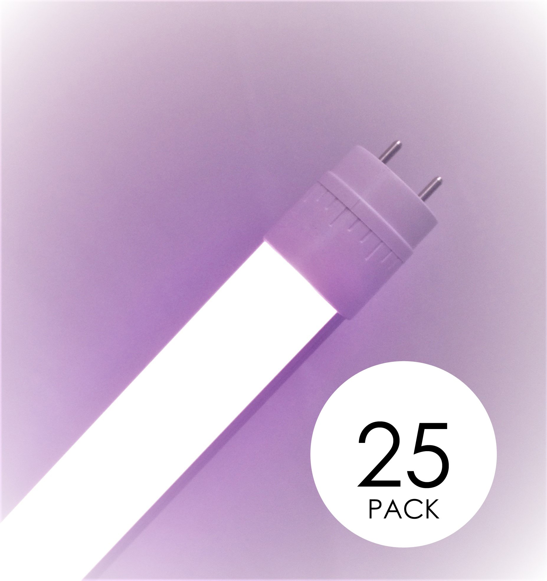 25 pack Promolux T8 LED for Meat, Seafood and Produce 4FT (48in) Ballast Compatible