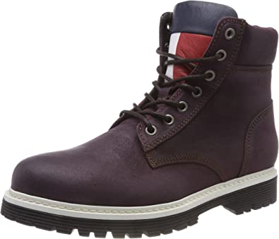 TALLA 44 EU. Tommy Hilfiger Iconic Tommy Jeans Suede Boot, Botas Militar para Hombre