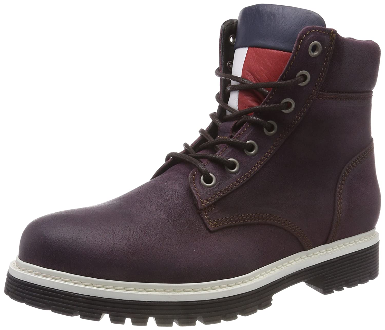 TALLA 44 EU. Tommy Jeans Iconic Suede Boot, Botas Militar para Hombre