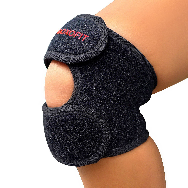 Dual Patella Strap - Knee Brace for Osgood Schlatter Chondromalacia Patella Arthritis Running Meniscus Tear Patellar Tendonitis Injury ACL MCL Knee Joint Pain Injury Relief for Women Men Red